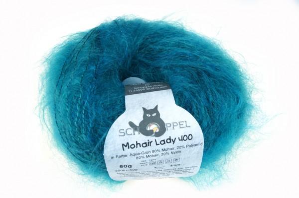 Mohair Lady 400 1388R Aqua-Grün 80% Mohair, 20% Polyamid