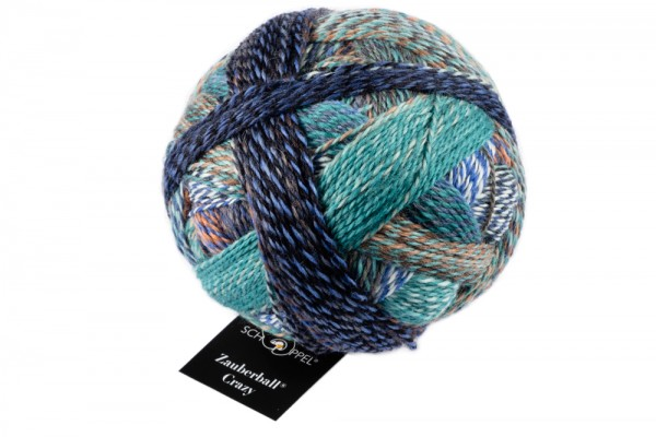 Crazy Zauberball 2395_ Camouflage 75% Virgin Wool, 25% Nylon (biodegradable)