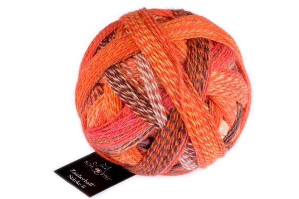 Zauberball®Stärke 6 2472_ Orangerie 75% Schurwolle (Strong Quality, superwash)25% Polyamid (biologisch abbaubar)