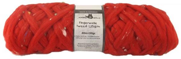 Fingerwolle tweed 1,25g/m 2283 Rote Erde 100% Schurwolle
