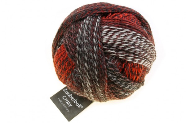 Zauberball®Crazy 2337_ Marsexperiment 75% Schurwolle(Strong Quality, superwash) 25% Polyamid