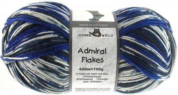 Admiral Flakes 2026fl Ich mach mal Blau 75% Schurwolle(Strong Quality, superwash) 25% Polyamid