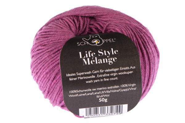 Life Style Mélange 2571M Himbeer 100% Schurwolle (Merino fine, superwash)