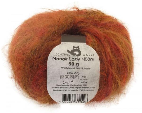 Mohair Lady 400 1393R Rost-Ocker 80% Mohair, 20% Polyamid