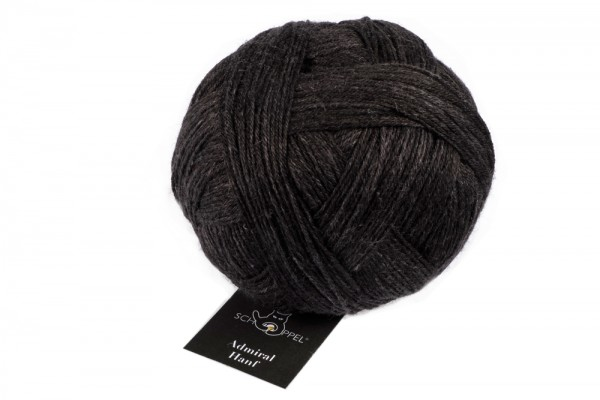 Admiral Hanf 2379_ Silky Black 67% Virgin Wool , 23% Nylon (biodegradable), 10% Hemp