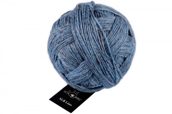 ALB Lino 4201M Blue Mélange 85% Virgin Wool 15% Linen