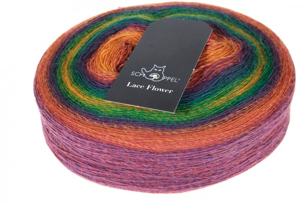Lace Flower 1505 Kunterbunt 100% Schurwolle (Merino medium, superwash)