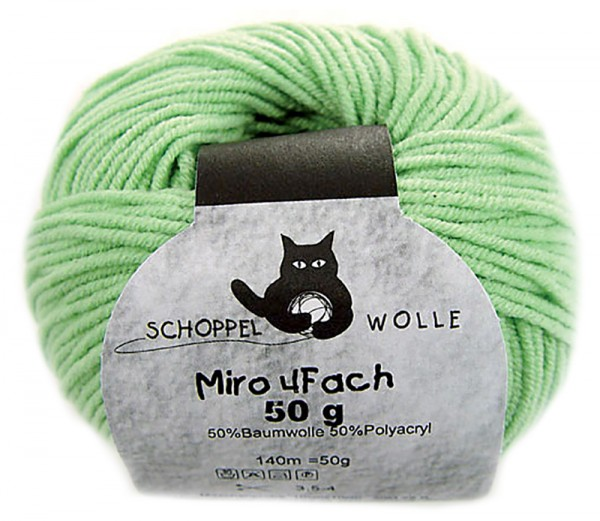 Miro 4-fach 6780 Gras 50% Baumwolle, 50% Polyacryl