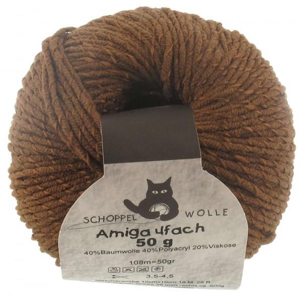 Amiga 4-fach 7395 Borke 40% Baumwolle, 40% Polyacryl, 20% Viskose